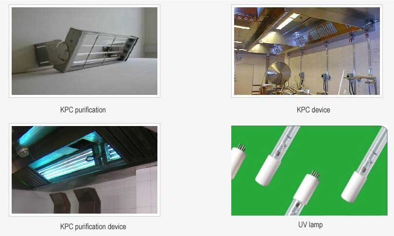 Kitchen UV lamp, grease removal UV light, kitchen ...